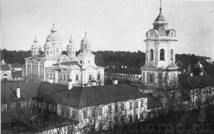Коневец. Общий вид монастырского каре, нач ХХ века