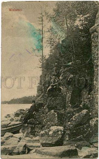 159469 valamo valaam walamo monks vintage postcard