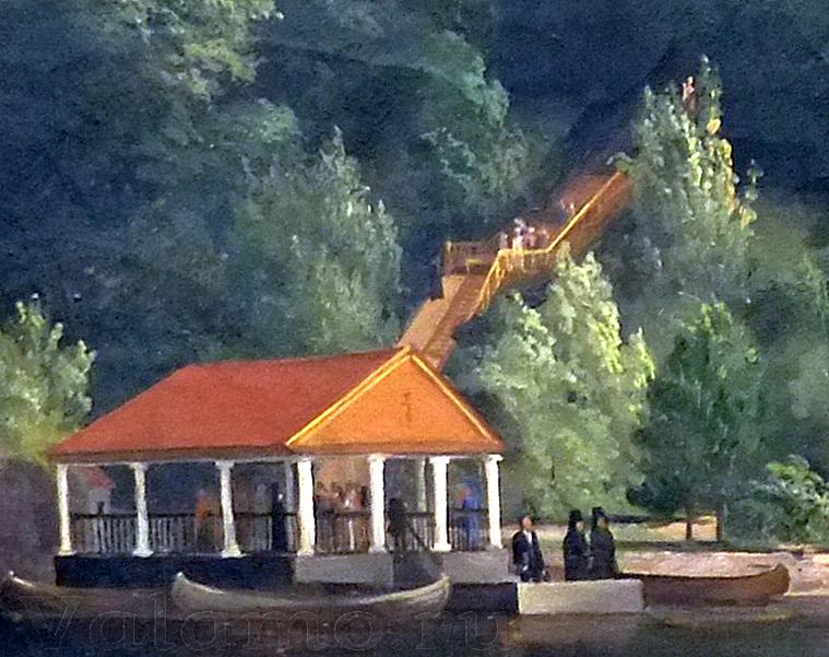 П.И. Балашов. Посещение 28 июня 1858 года Валаама Императором Александром II. 1858. Фрагмент.
