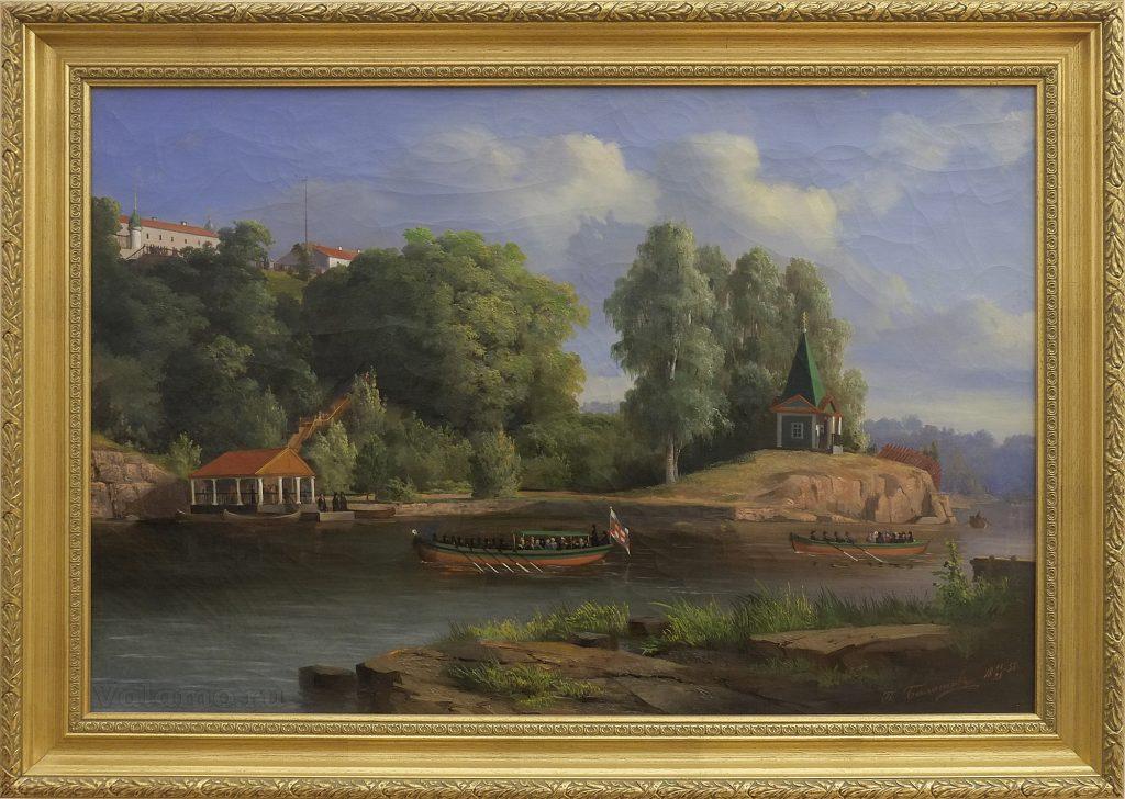 П.И. Балашов. Посещение 28 июня 1858 года Валаама Императором Александром II. 1858.