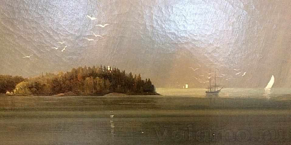 Предтеченский остров.Фр.Шишкин.Вид Валаамского монастыря с южной стороны.1859. Фото: М. Малышкина.