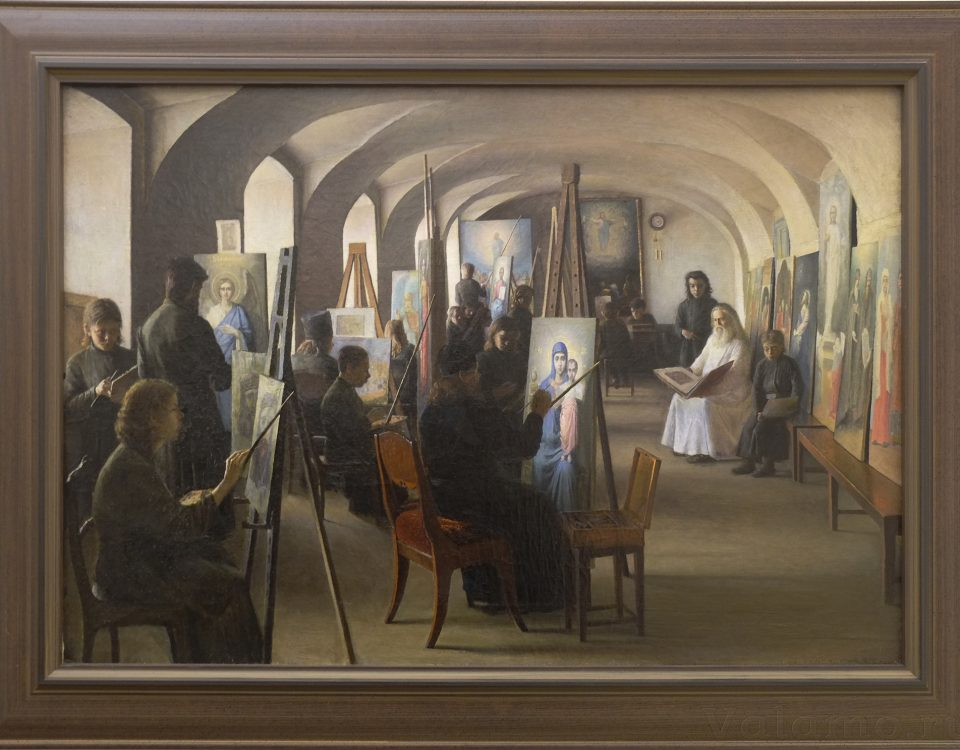 В. А. Бондаренко. Валаамские мастерские. Иконописная мастерская. 1898