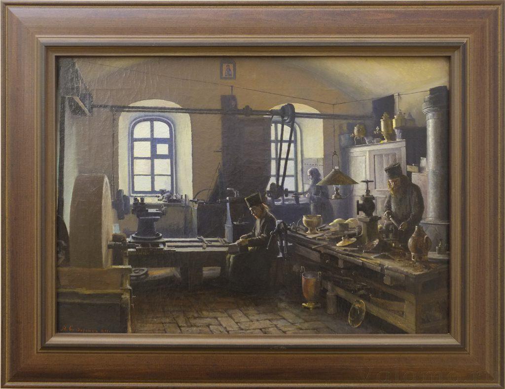 В. А. Бондаренко. Валаамские мастерские. Токарная мастерская. 1898