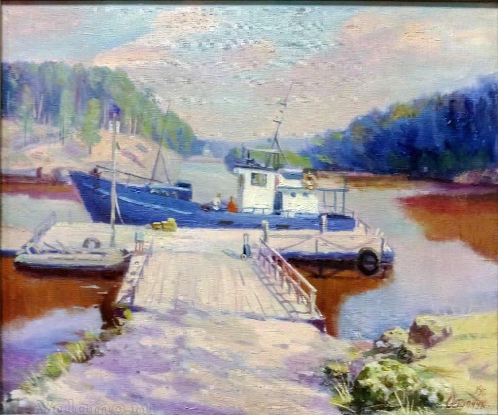 Владимир Остапчук. Лодки. Х., м., 2016, 50х60см Фото: И. Сазеев.