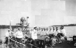Миноносец Ладожском озере.1906 г.