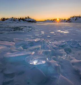 Ладожское озеро зимой. Фото: Фёдор Лашков.2017.