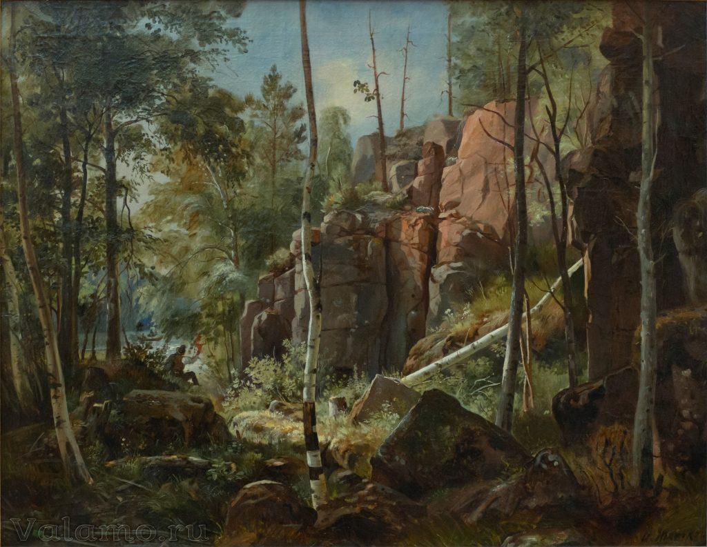 И.И.Шишкин. Вид на острове Валааме (местность Кукко). 1859 (1860-предпол.). Фото: И. Сазеев.