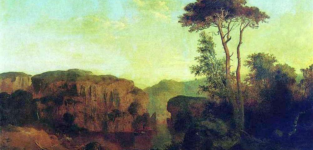 Клодт М.К. Вид на острове Валаам. 1854.