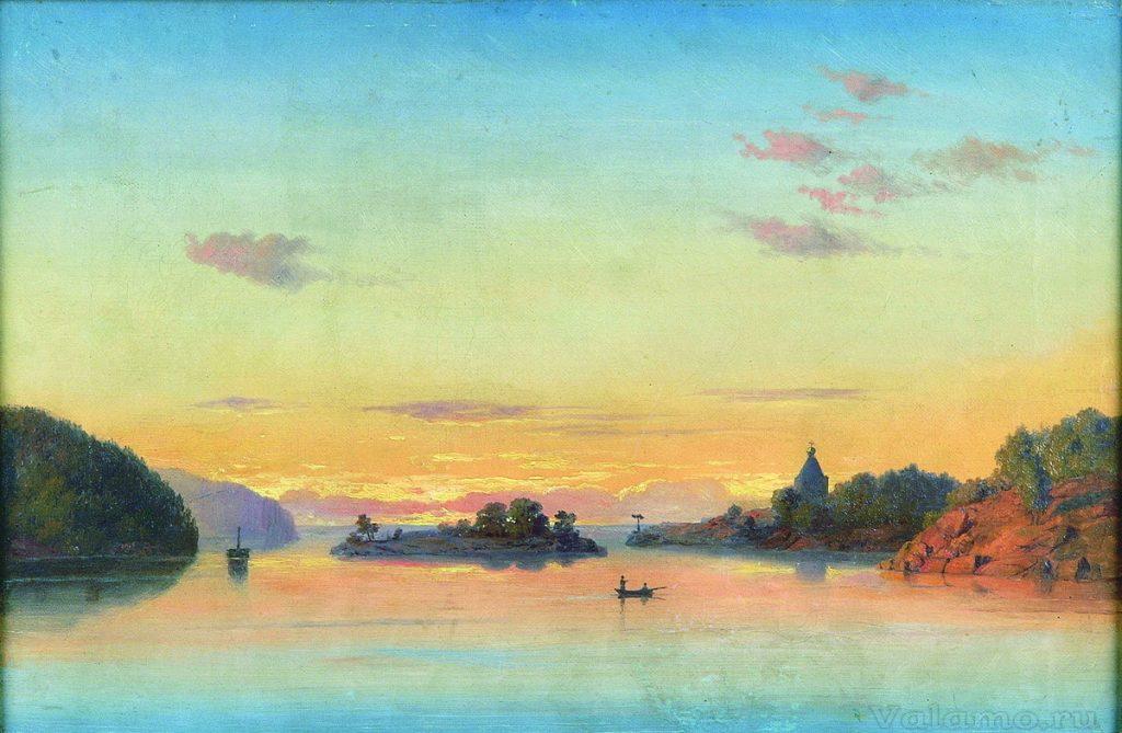 Клодт М. К. Вид озера Латтокка.Частное собрание