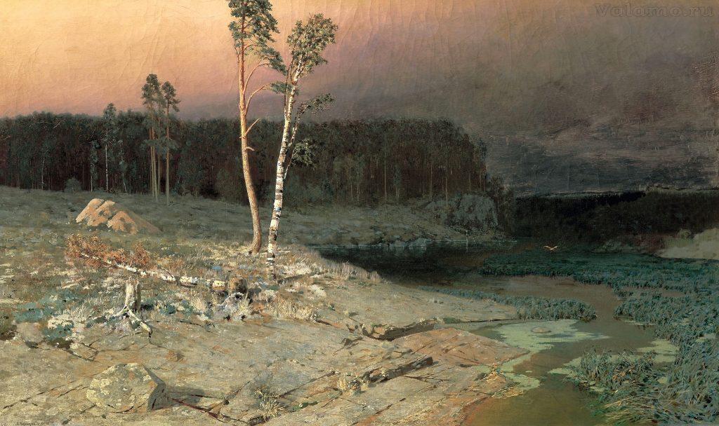 Куинджи На острове Валааме.1873.76х130.Государственная Третьяковская галерея