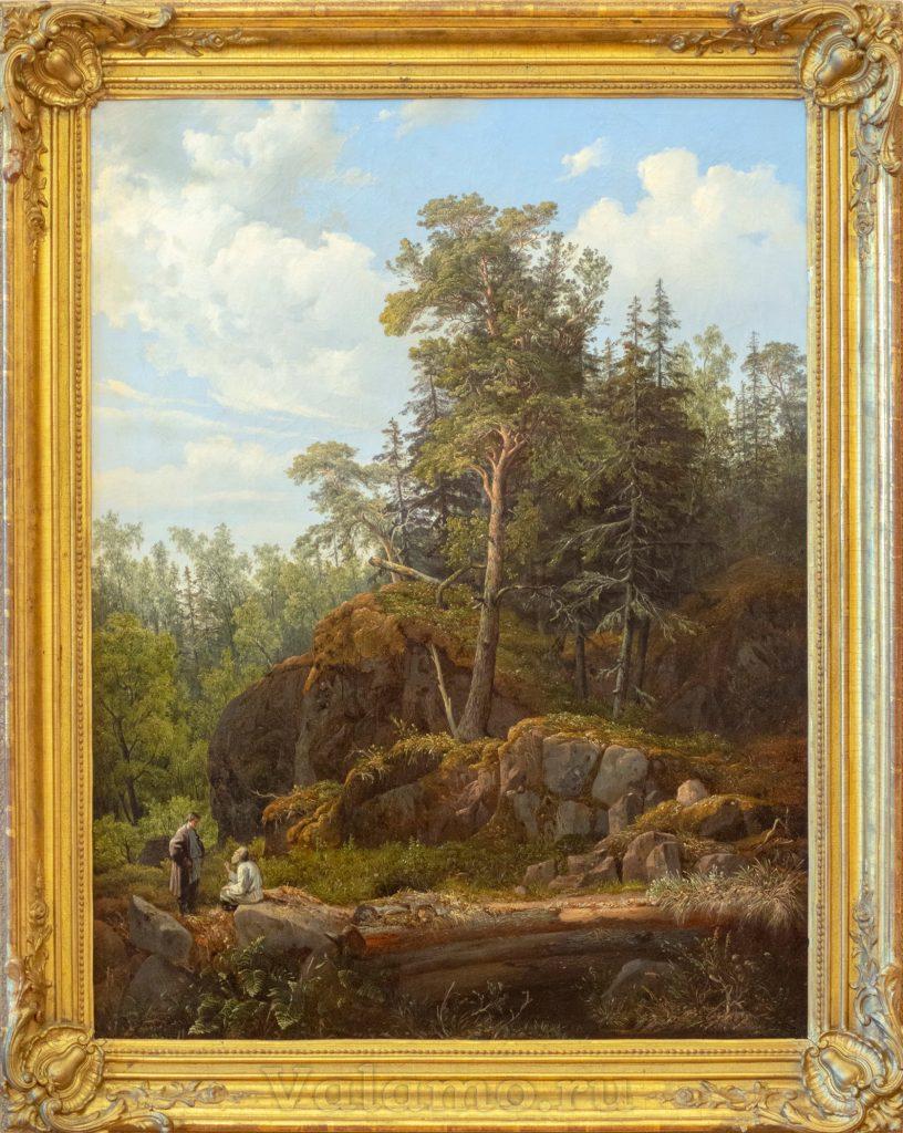 И. Давыдов. Вид на острове Валааме. 1853. Фото: И. Сазеев. Обр.: А. Захаров.